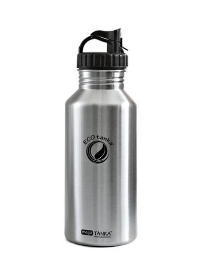 ECOtanka Mega Tanka 2L with Stainless Steel flat lid or Non BPA Pop Up lid