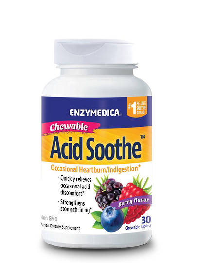 Enzymedica Acid Soothe Chewable Tablets