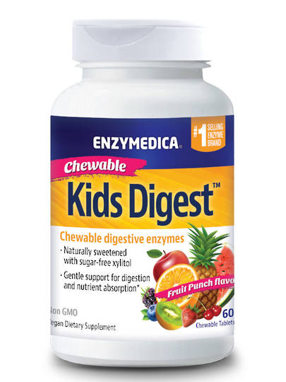 Enzymedica Kids Digest Chewable, 60 Chewable Tablets