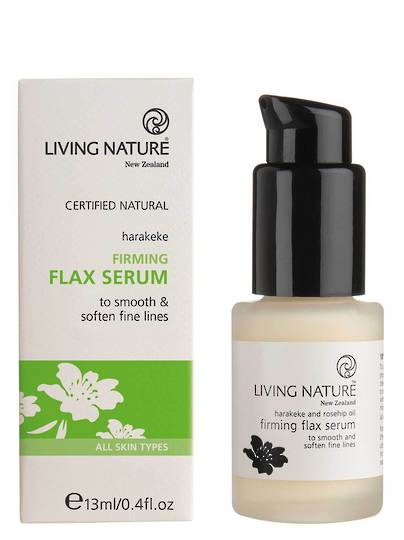 Living Nature Firming Flax Serum, 13ml