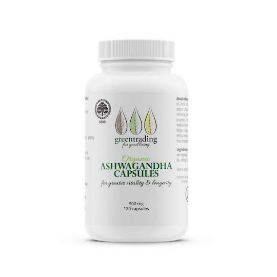 Green Trading Organic Ashwagandha Capsules (500mg), 120 Capsules