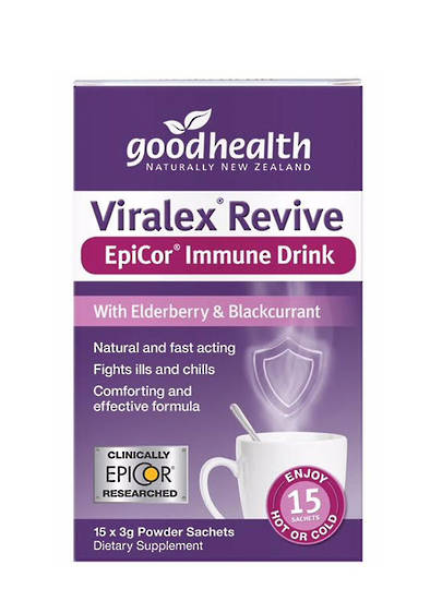 Good Health Viralex Revive Epicor Immune Drink, 15 x 3g sachets (best before end 01/21)