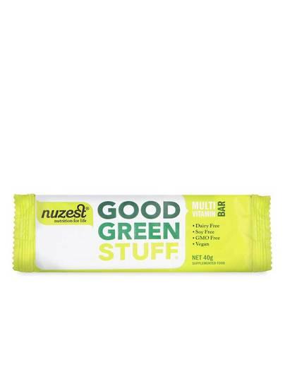 NuZest Good Green Stuff Multi-Vitamin Bar or Box of Bars (12)