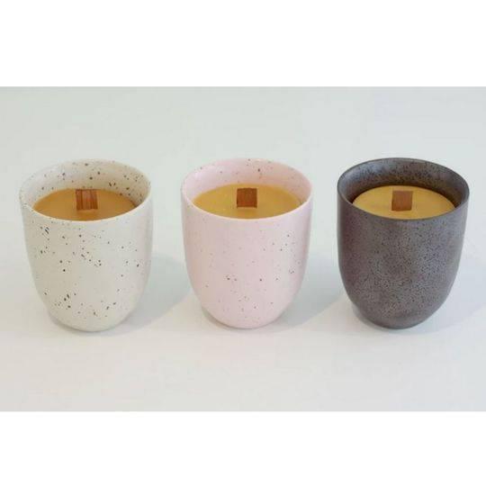 Hexton Bee Company Woodwick Pottery Candle