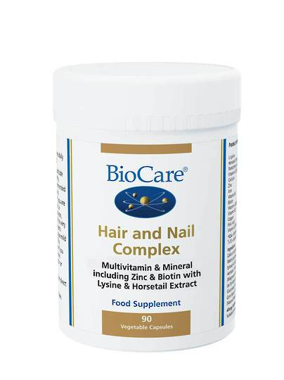 Biocare Hair and Nail Complex, 90 Capsules