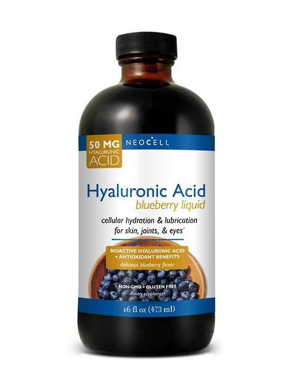 NeoCell Hyaluronic Acid, Blueberry, 473ml Liquid