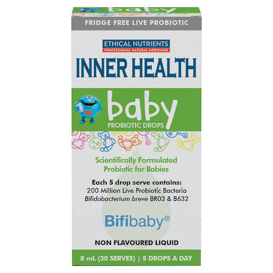 Inner Health Baby Probiotic Drops, 8ml (use by end 02/21)