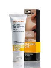 Invisible Zinc Sheer Defence Moisturiser SPF50 50g, Light