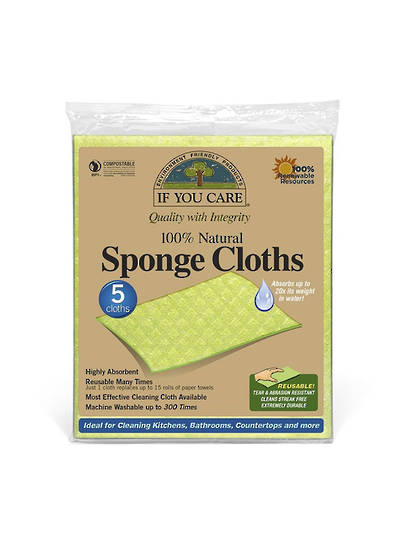 If You Care,  Sponge Cloths, 5 Pack
