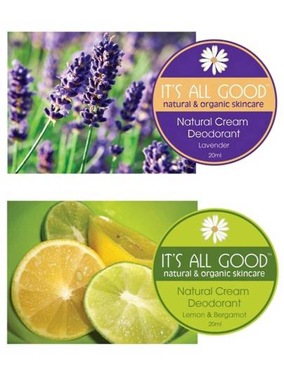 It's All Good Natural Deodorant, lemon & Bergamot, 130gm
