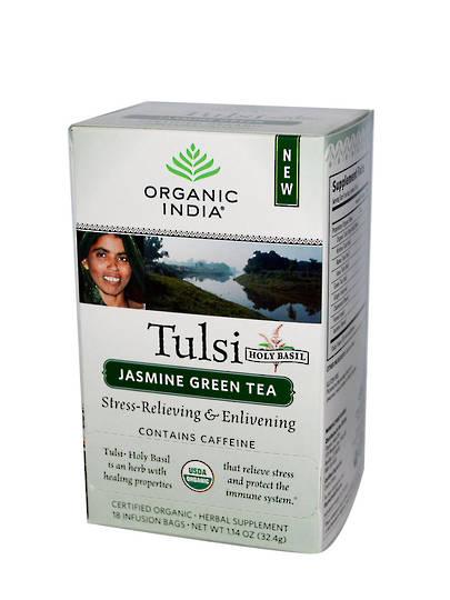 Organic India Tulsi Jasmine Green, 25 tea bags