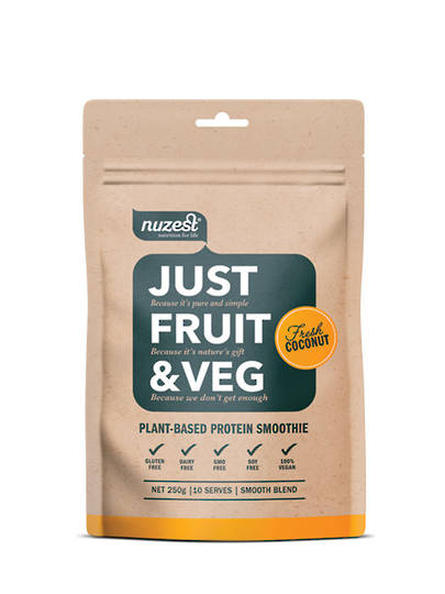 NuZest Just Fruit & Veg, 250g pouch, choice of flavours
