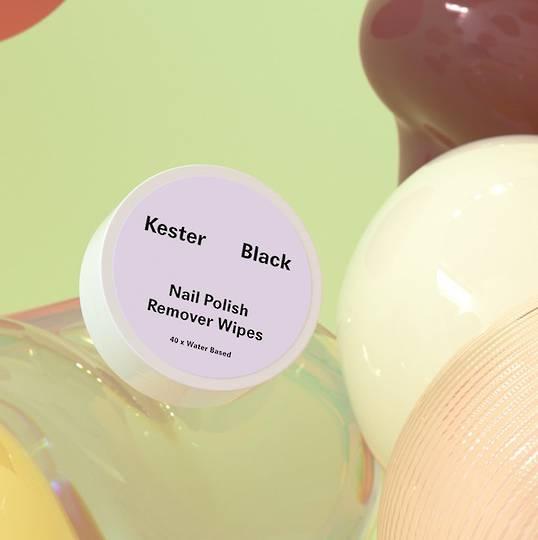 Kester Black Water Based Nail Polish Remover, 40 Wipes