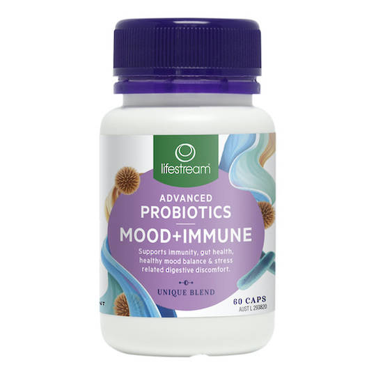 Lifestream Advanced Probiotics Mood + Immune, 30 or 60 Capsules