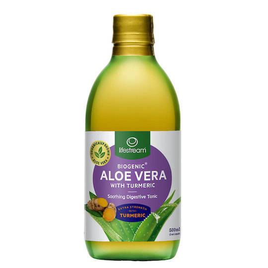 Lifestream Biogenic Aloe Vera Digestive Tonic with Turmeric, 500ml