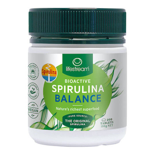 Lifestream Bioactive Spirulina Balance 500mg, 200 or 500 Tablets