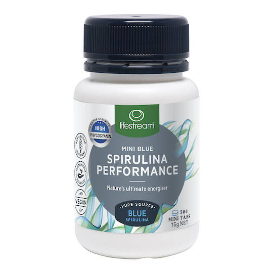 Lifestream Blue Spirulina Performance, 300 or 1000 Mini Tablets