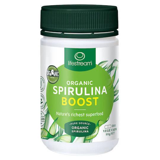 Lifestream Organic Spirulina Boost, 200 Capsules