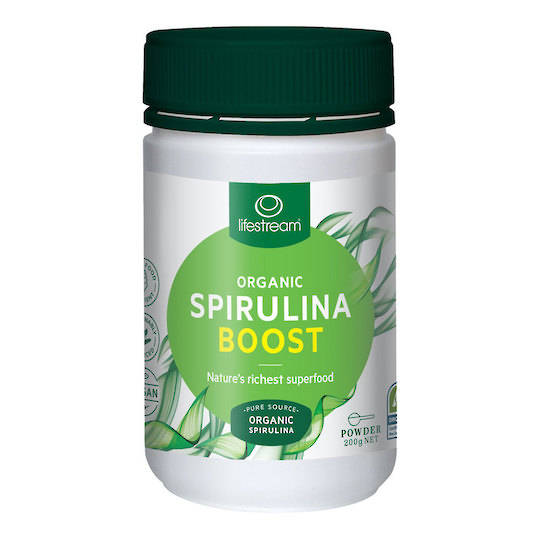 Lifestream Organic Spirulina Boost, 200g Powder
