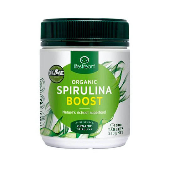Lifestream Organic Spirulina Boost (500mg) , 200 or 500 Tablets