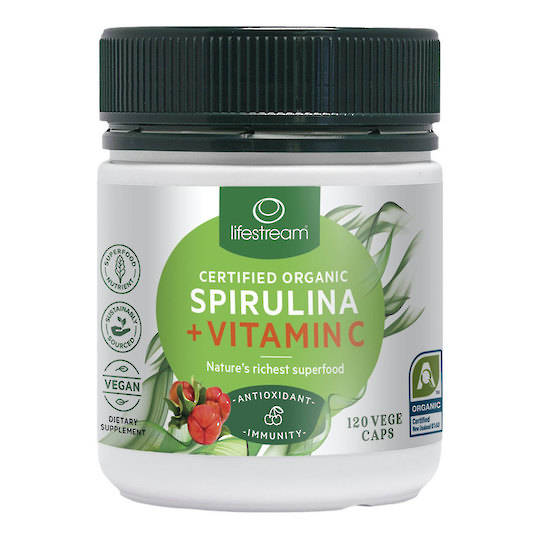 Lifestream Spirulina Immunity plus Vitamin C, 220 Capsules (best before end 08/21)