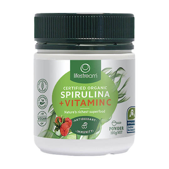 Lifestream Spirulina Immunity plus Vitamin C, 100g Powder best before 10/21