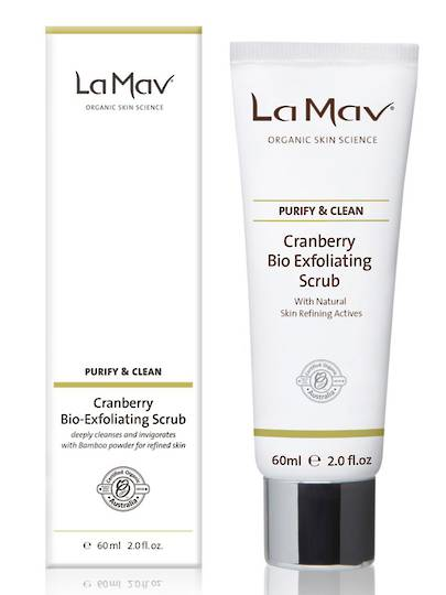 La Mav Cranberry Bio Exfoliating Scrub, 60ml