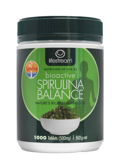 Lifestream Bioactive Spirulina Balance 495 mg, 200 Tablets