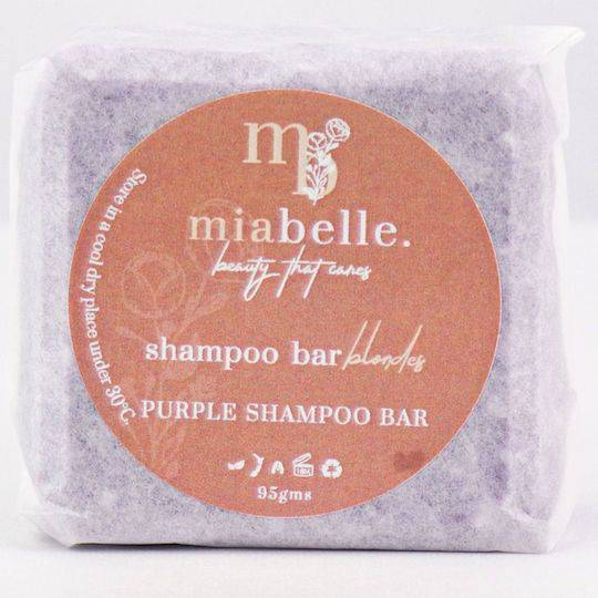 Mia Belle Purple Shampoo Bar, 95g