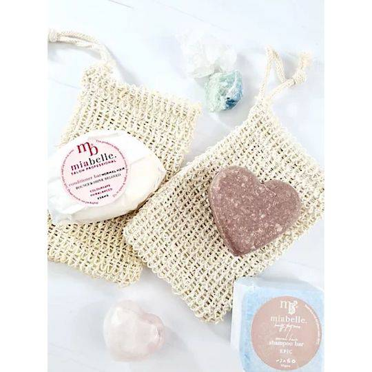 Mia Belle Sisal Cotton Soap Bags