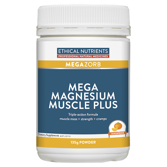 Ethical Nutrients Megazorb Mega Magnesium Muscle Plus, 135g Powder