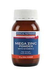 Ethical Nutrients Mega Zinc Powder (raspberry) 95g