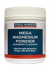 Ethical Nutrients Mega Magnesium, 200g Powder, citrus or raspberry