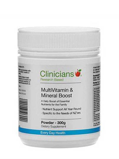 Clinicians MultiVitamin & Mineral Boost, 300g or 150g  Powder