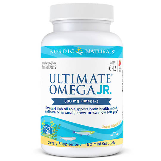 Nordic Naturals Ultimate Omega Junior (90 strawberry soft gels, ages 6-12)