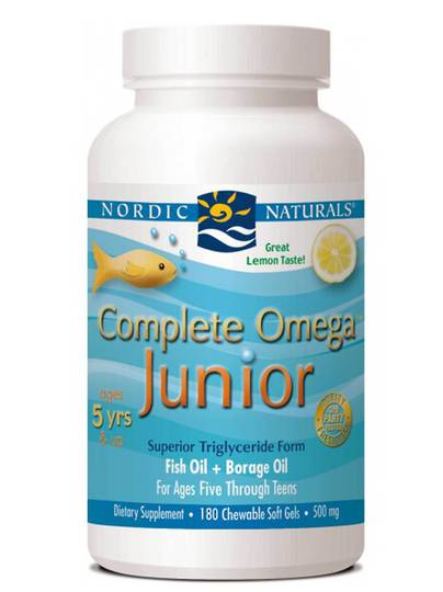 Nordic Naturals Complete Omega Junior (90 lemon softgels for ages 5+)