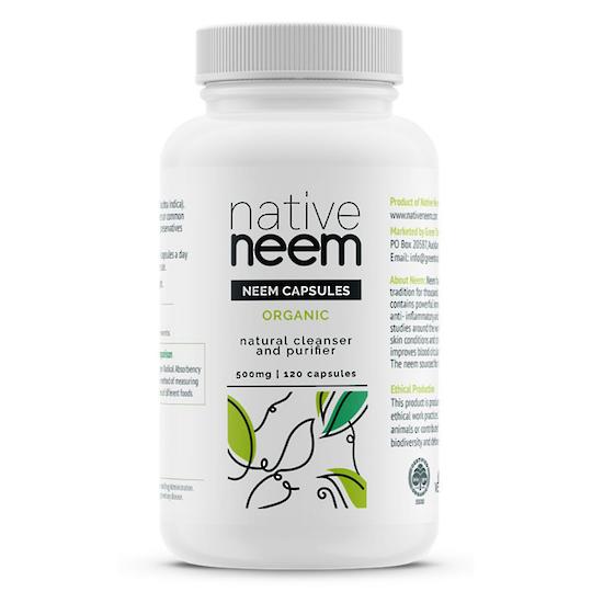 Native Neem Organic Neem Capsules, 120 Caps