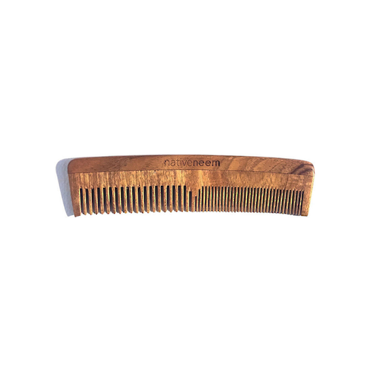Native Neem Wooden Neem Comb Mixed Tooth