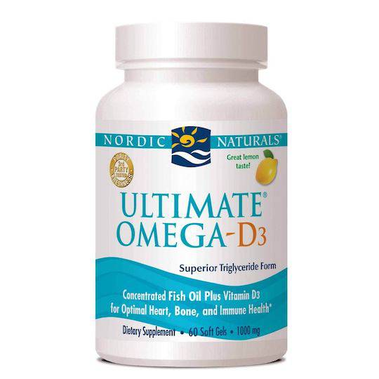 Nordic Naturals Ultimate Omega D3, 60 or 120 Softgels