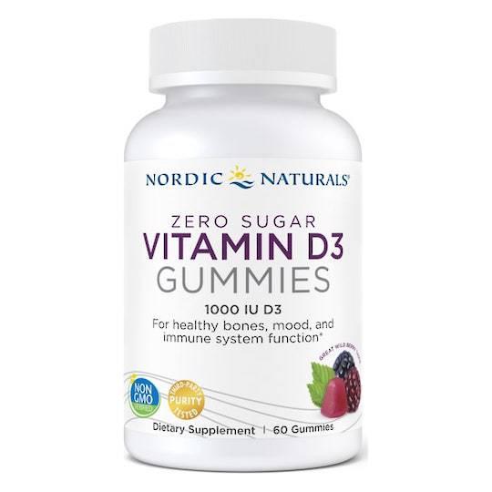 Nordic Naturals Zero Sugar Vitamin D3 (60 Gummies)
