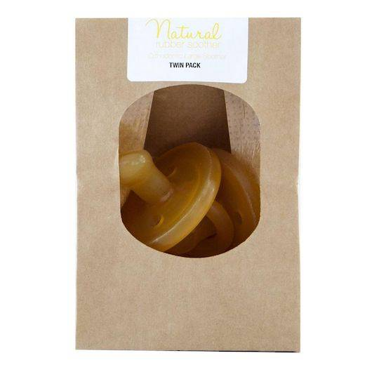 Natural Rubber Soothers Orthodontic Dummy - Twin Pack (Eco Packaging)