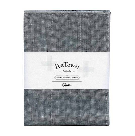 Nawrap Binchotan Tea Towel, Charcoal