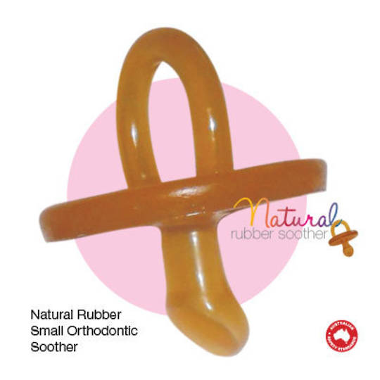 Natural Rubber Soothers - Ortho - Small or Large