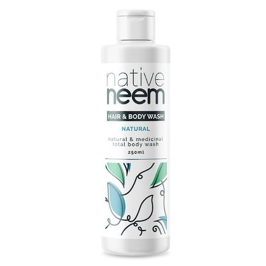 Native Neem Organic Neem Hair and Body Wash, 250ml