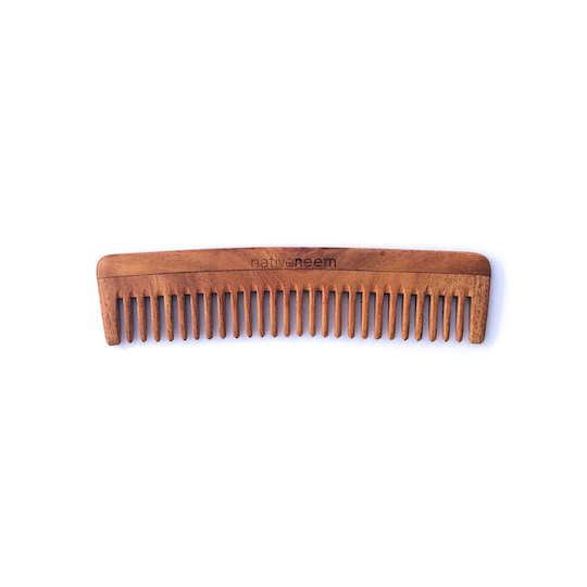 Native Neem Wooden Neem Comb Wide Tooth