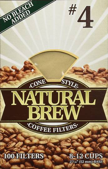 Natural Brew, Filter No.4, 40 filters