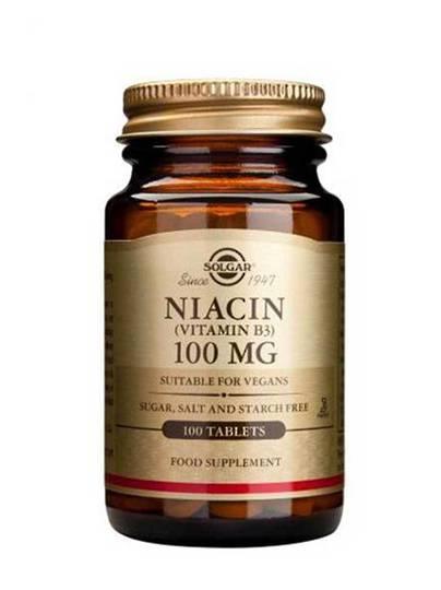 Solgar Vitamin B3 (NIACIN) 100mg, 100 tabs