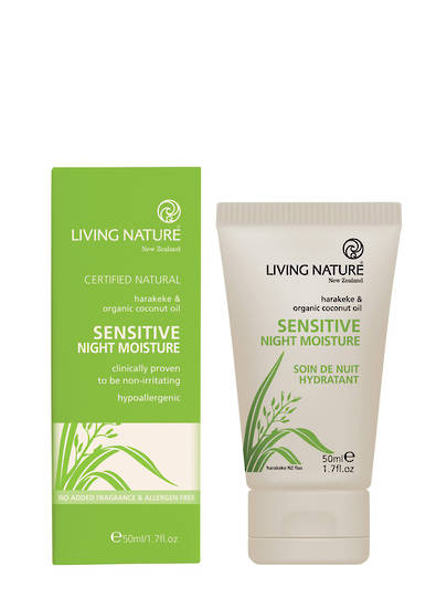 Living Nature Sensitive Night Moisture, 50ml