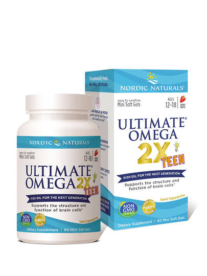 Nordic Naturals Ultimate Omega 2x Teens, 60 Mini Soft Gels