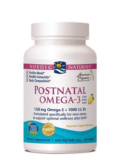 Nordic Naturals Postnatal Omega 3, 60 sofgels